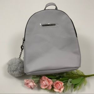 NWT Small Faux Leather Backpack/Adjustable…